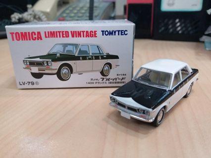 新淨 絕版 Tomytec Tomica Limited Vintage LV-79c Datsun Bluebird 綜合警備車