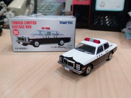 新淨 絕版 Tomytec Tomica Limited Vintage 5周年 LV-N26a Mazda 廣島縣 警車
