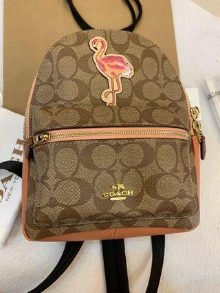Authentic Tory Burch mini backpack 28948 flamingo version