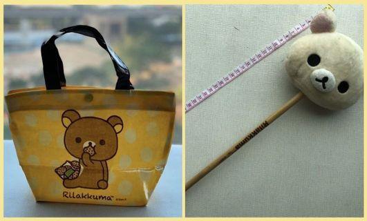 🐻 100%正貨 日本 Rilakkuma 鬆弛熊/輕鬆小熊 公仔頭按摩槌 Massage Hammer 及 環保手挽袋 Tote bag
