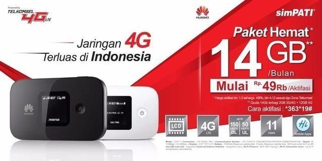 Mifi Modem Wifi 4G Huawei E5577 Unlock All Operator [BEST SELLER] - Hitam