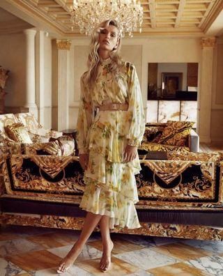 BNWT Sheike Blurred Floral Skirt Size 6