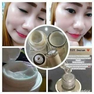 T2T Cream Serum white and Glowing