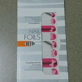 Chic Pretty Glittery Nail Foil Nail Wrap Nail Stickers