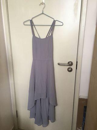 全新 Air space 灰藍色吊帶禮服裙