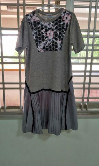 Grey Korean dress
