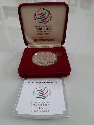 Ministerial Conference 1996 $5 Silver Coin