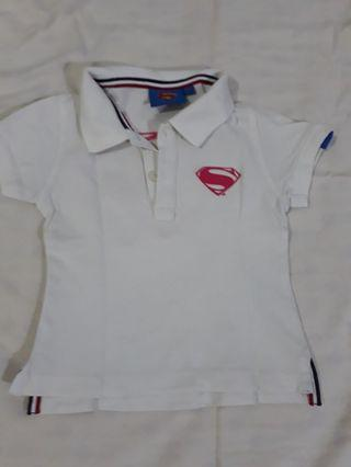Polo shirt baby girl DC comic superman