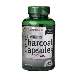 [英國代購] Holland & Barrett 活性炭 Activated Charcoal 260mg 200 Capsules 11月底截單