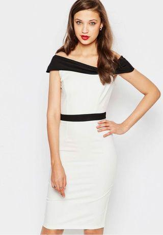 🚚 Paper Dolls Monochrome Pencil Dress