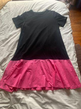Almost New Color Block Dress in Black & Pink