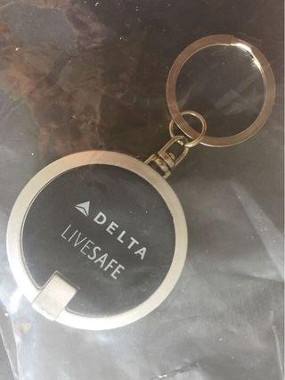 Exclusive Delta Airlines Keychain with Mini Torch