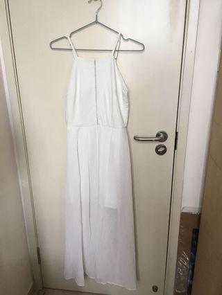 全新 Air space 白色長禮服