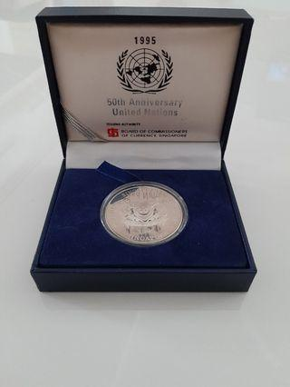1995 50th Anniversary United Nations $5 Silver Proof Coin