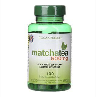 [英國代購] Holland & Barrett 抹茶 Matcha Tea 500mg 100 Capsules11月底截單