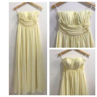 Baby Yellow Tube Gown