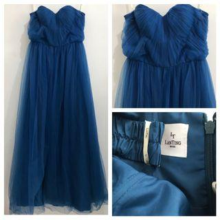 Electric Blue Tube Gown