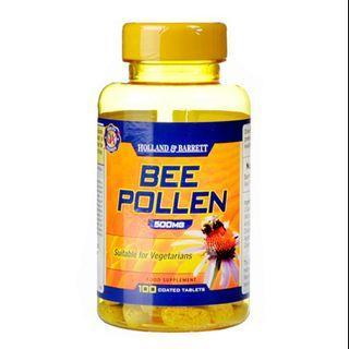 [英國代購] Holland & Barrett 蜂花粉 Bee Pollen 100 Tablets 500mg11月底截單