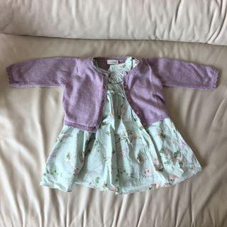 Next 3-6 months baby dress and cardigan set