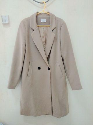 🚚 Nab Shop 韓系米色(淺駝色)大衣