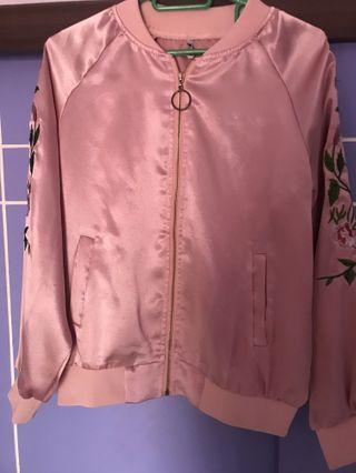 Satin silk jacket
