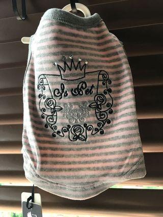 Dog Shirt Pink Grey Royal