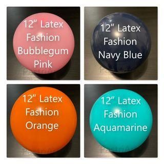 GSS 2019! 12inch Latex Round Fashion Balloon (Multiple Colours) - Only for flat packaging