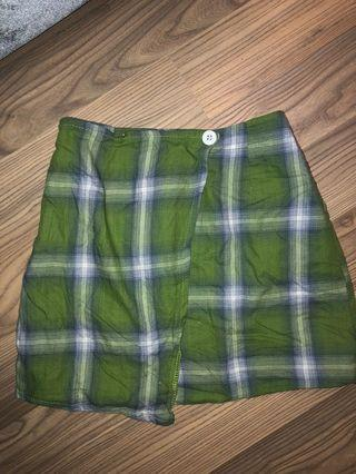 Ulzzang mini plaid skirt