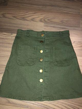 Ulzzang Button Skirt