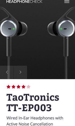 Taptronics - active noise cancelling earphones