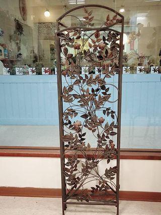 銅雕花摺疊屏風