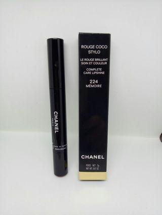 BNIB Authentic Chanel Rouge Stylo 224 Memoire Lipshine Lipstick Make Up RRP $59.95