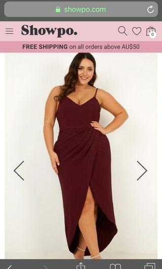 Showpo Lucky Day Maxi Dress in Wine 14
