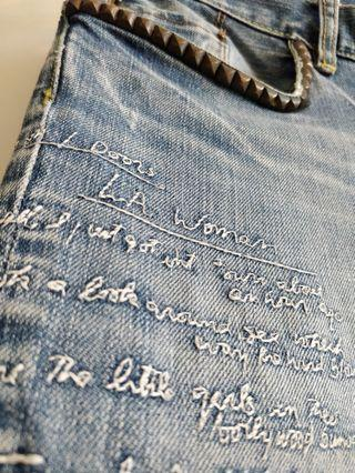 """Hysteric Glamour """"L.A Woman"""" Denim Jeans"""