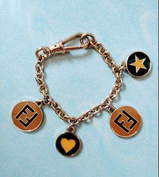 Fendi Black Charm Bracelet made in Italy - like new