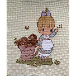 Cross Stitch - Delivering Puppies