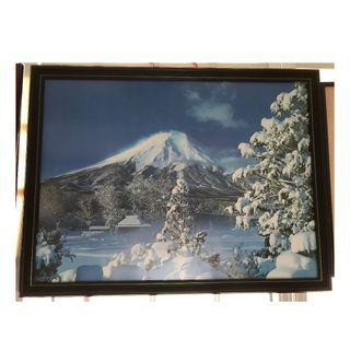 Mt Fuji picture with frame