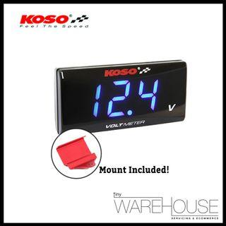 KOSO Slim Style Voltmeter with Mounting Bracket for E-Scooter PMD FIIDO DYU AM