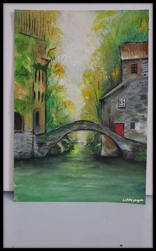 Painting/Watercolor/Little villages in Italy