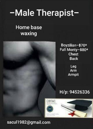 Boyzilian waxing - Male Therapist