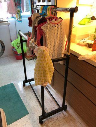 Moving sale - moveable drying Clothing Rack