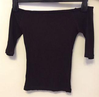 6ixty8ight black off-shoulder top