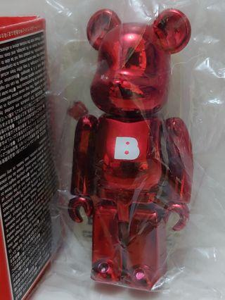 全新 Basic 字母 每隻$88 ( B 字 ) 電鍍 紅色 medicomtoy be@rbrick series 21 bearbrick 21代 100% 熊仔 隱藏 絕版 擺設 裝飾 玩具 積木 收藏