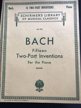 Bach - Fifteen Two-part Inventions for the Piano