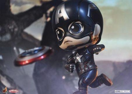 可交換 最後一個 HOTTOYS COSBABY ht 美國隊長 Captain America cosbaby the avengers marvel