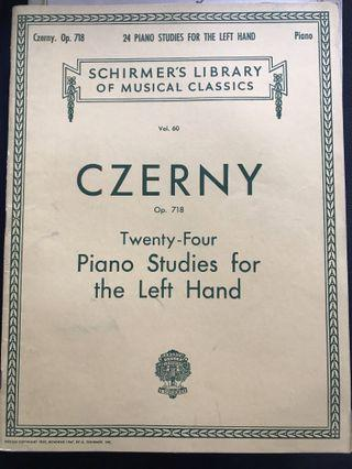 Czerny - 24 Piano Studies for the Left Hand