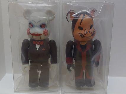 二手 無卡 一對 SAW 恐懼鬥室 medicomtoy be@rbrick series  bearbrick 代 100% 熊仔 隱藏 絕版 擺設 裝飾 玩具 積木 收藏