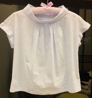 Japan Beams Lights round collar blouse size S