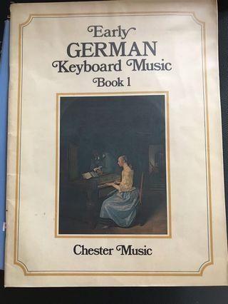 Early German Keyboard Music Book 1