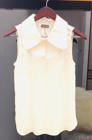 Emporio Armani Silk Large Collar Blouse